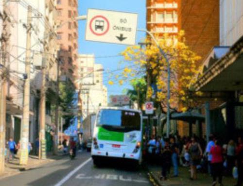 Faixa exclusiva para ônibus em Ribeirão Preto